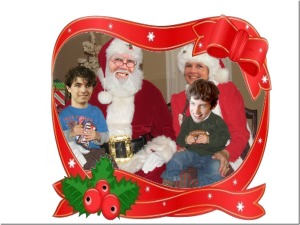 Santa Atom, Mrs. Santa Sonja, Brandon and Josh